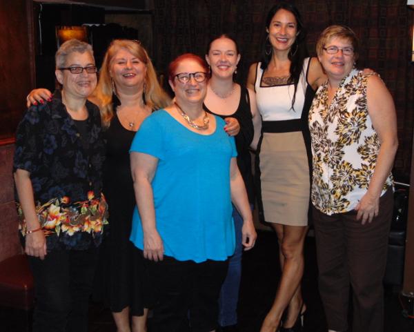 L-R: Laura Antoniou, Lori Perkins, D.L. King, me, Mara White, Debra Hyde.