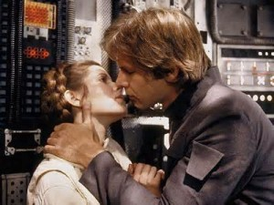 Han and Leia Kiss