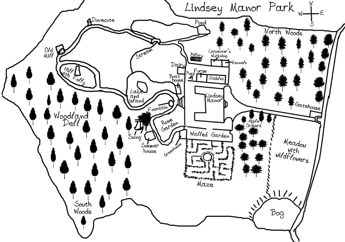 Map of Lindsey Park Manor