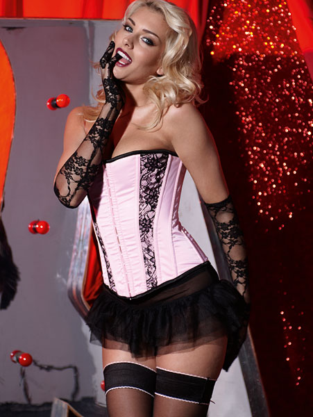 Ann Summers Lace Corset Pink